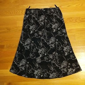 H&M vintage black and white midi skirt